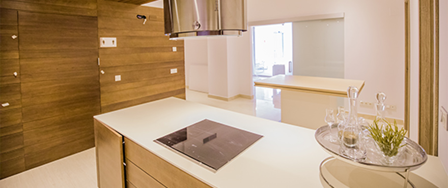 Modern, open kitchen at Royal Banús, with quality finishings