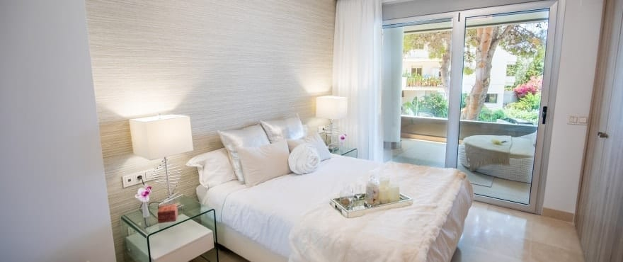 Spacious master bedroom in Marbella