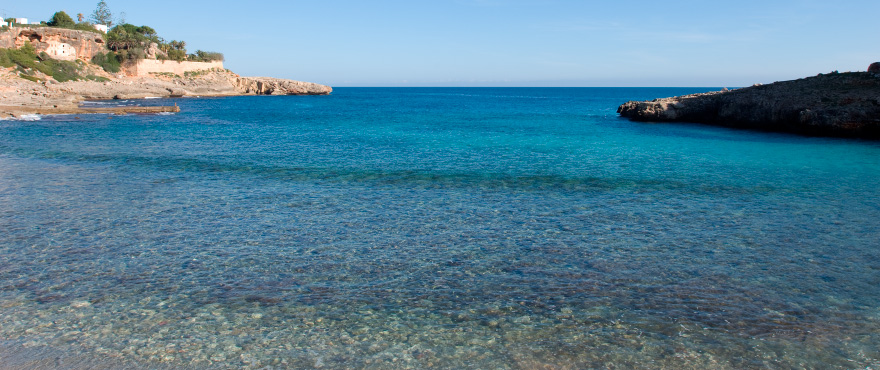 Cala Murada beach clear water