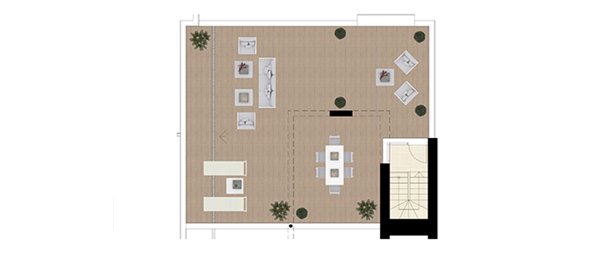 Plan Royal Banús, 2 Bedrooms Penthouse + solarium