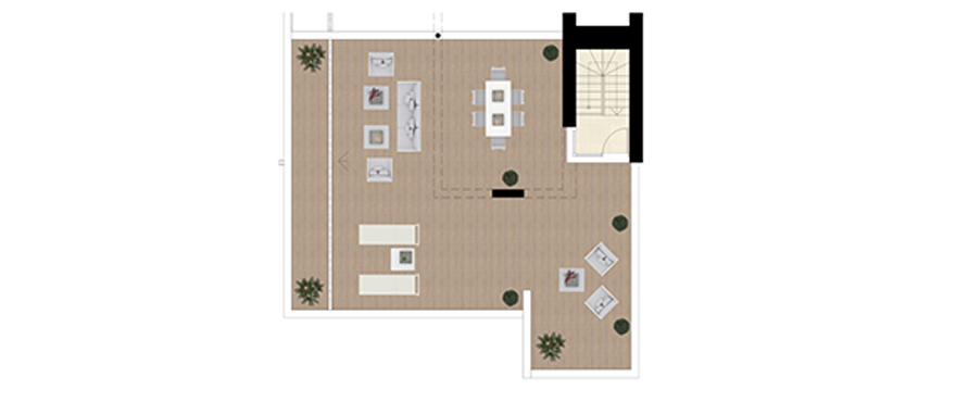 Plan Royal Banús, 3 Bedrooms Penthouse + solarium