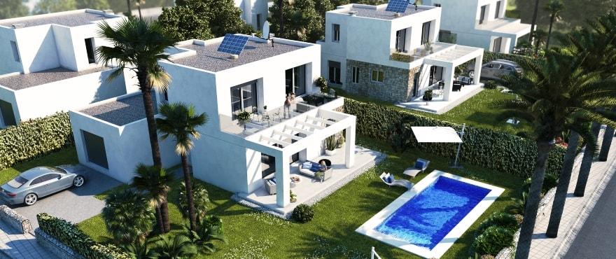 Les Villas de Dalt de Sa Rápita, pavillon avec piscine en vente, Majorque