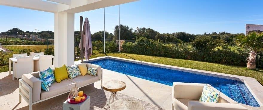 Las Villas de Dalt de Sa Rápita, Einfamilienhaus mit Pool zum Verkauf (Mallorca)