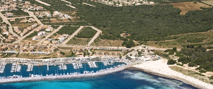Las Villas de Dalt de Sa Rápita, vista aérea