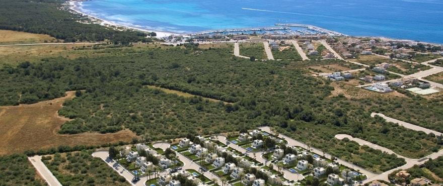 Les Villas de Dalt de Sa Rápita, vue aérienne