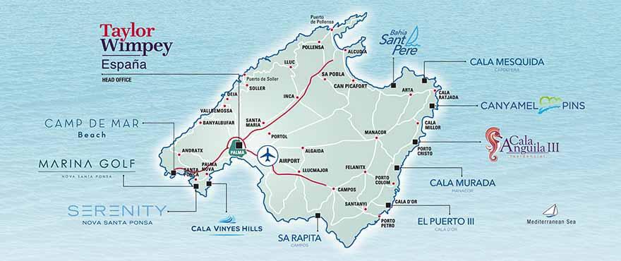 Logements en vente Taylor Wimpey à Majorque
