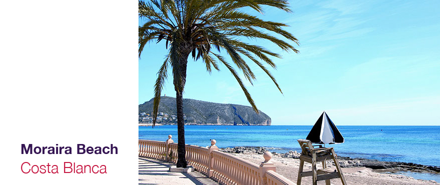 Moraira Beach, Costa Blanca - 2 and 3 bed  apartments