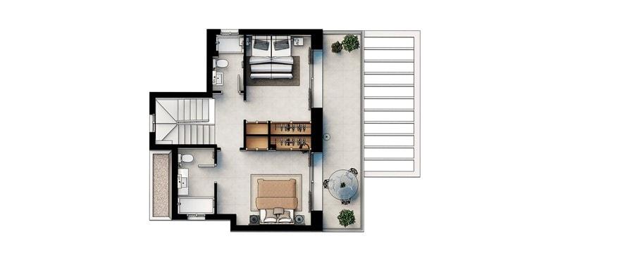 Primer piso chalet Las Villas de Dalt de Sa Rápita