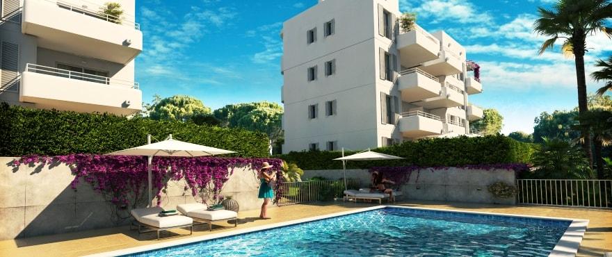 Acquamarina, nybyggda lägenheter till salu i Cala D'Or, Mallorca