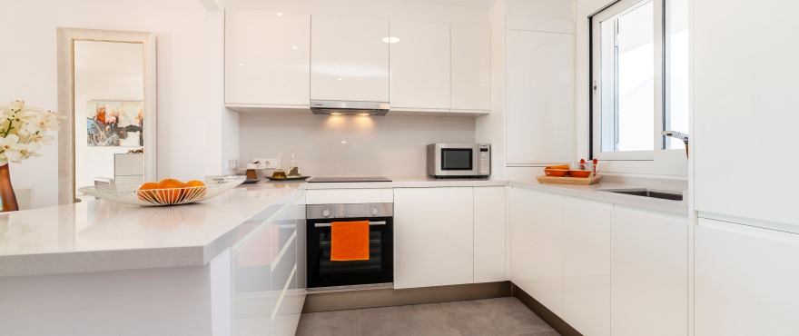 Modern kitchen in the new Acquamarina residential complex