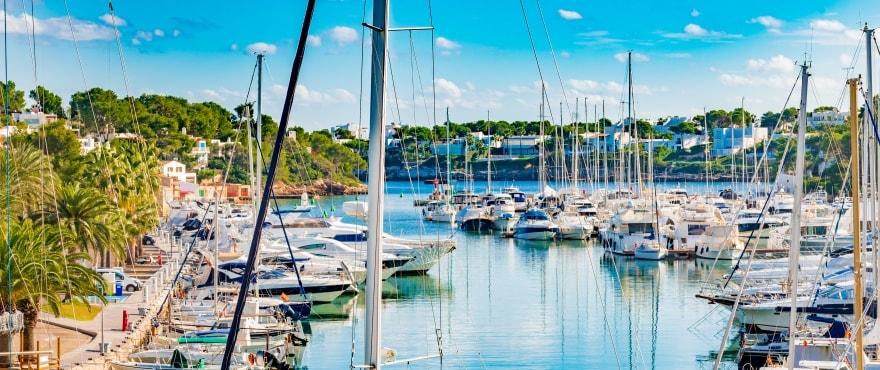 Båthamnen Cala D'Or, Santanyi, Mallorca