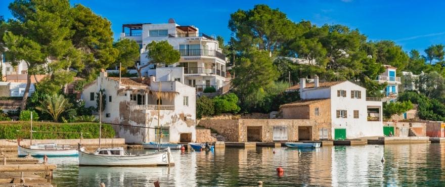 Cala D'Ors strandpromenad, Santanyi, Mallorca