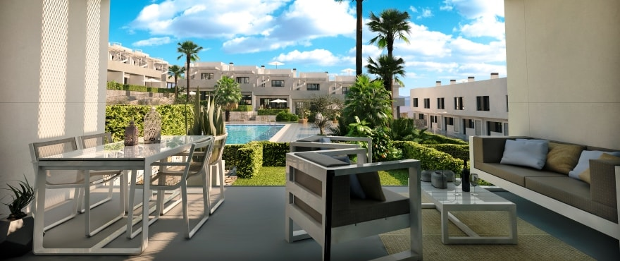 Kiruna residencial: Townhouses in Elche, Alicante: Terrace
