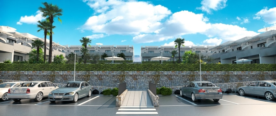 Townhouses in Elche, Alicante: Exterior. Garden, Swimming pool and parking