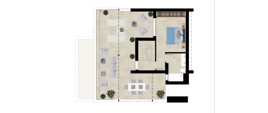 Grand view, plan 3 bedroom duplex penthouse