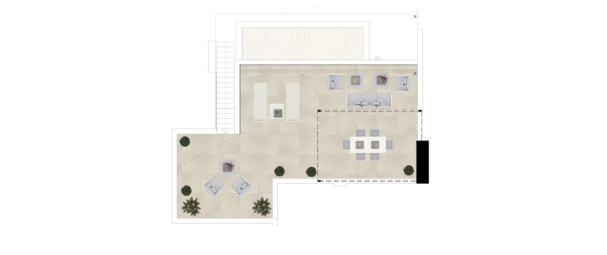 Grand view, plan attique 3 chambres