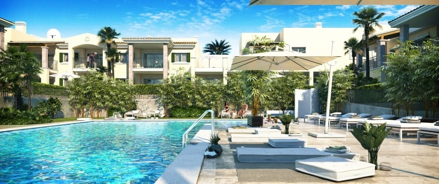 Blue Cove, new apartments from 1 to 3 bedrooms with pool in Cala Lliteras, Capdepera, Majorca
