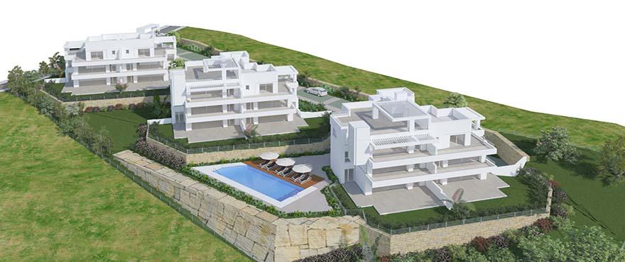 Le Caprice, appartementen met gemeenschappelijk zwembad en gemeenschappelijke tuinen, Benahavis
