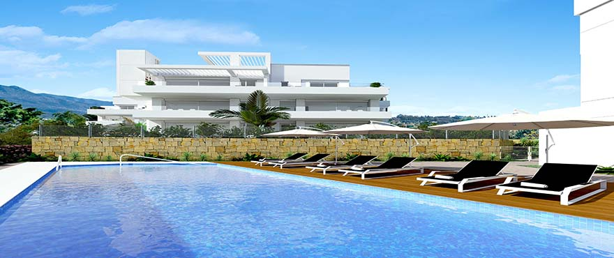 Pool and sport at Le Caprice, exclusive apartments with 3 bedrooms and penthouses