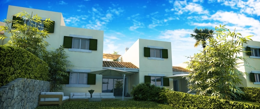 Blue Cove, new houses on the first line next to the sea, Cala Lliteras, Capdepera, Majorca