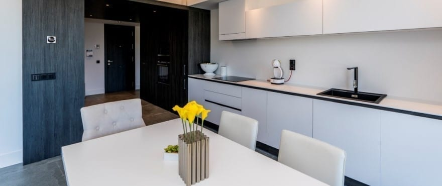 Kitchen with high quality appliances at Le Caprice