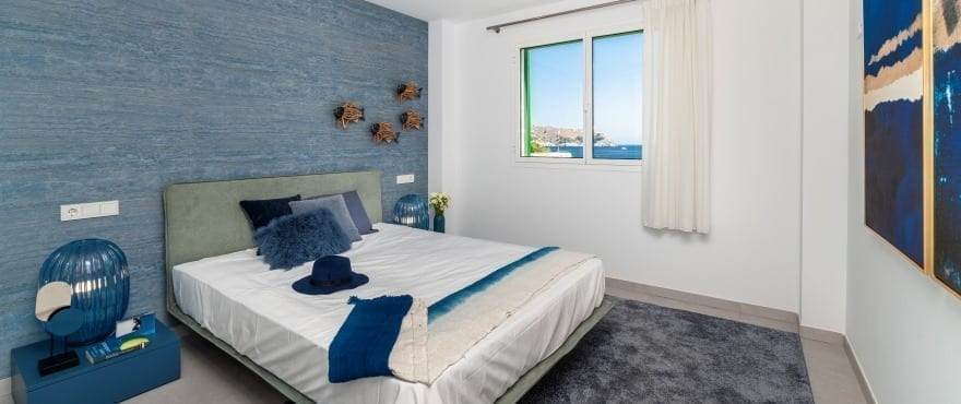 Bright bedroom with views at Cala Lliteras