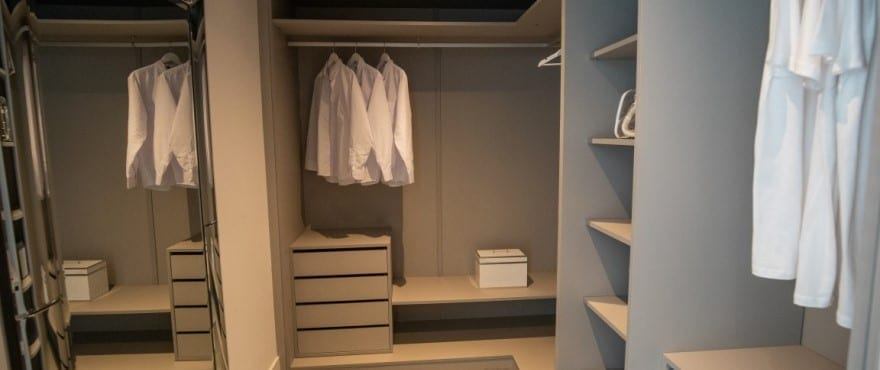 Closet in the apartments at Le Caprice