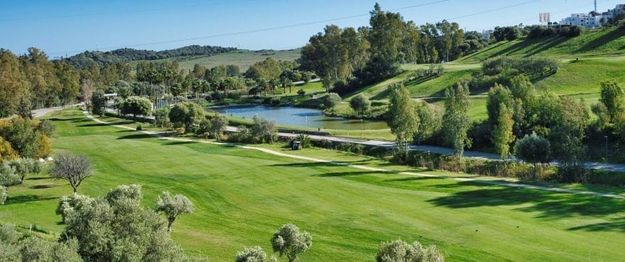 Green Golf, houses for sale overlooking the golf course, Estepona, Costa del Sol