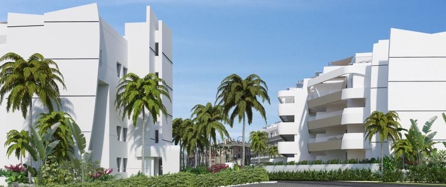 Pier, toegang tot en tuinen van de nieuwe woningen bij La Marina de Sotogrande