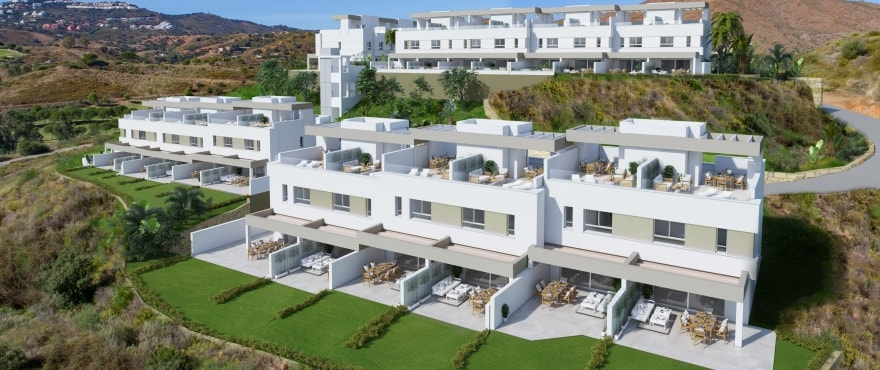 Natura, new townhouses for sale, La Cala Resort, Mijas
