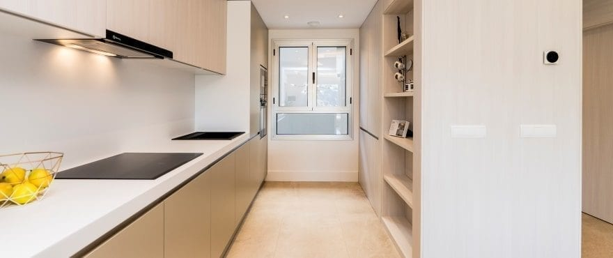 Modern open kitchen at the new townhouses at Natura