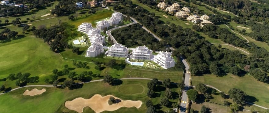 Emerald Greens, Appartementen te koop, San Roque Club, Cadiz. Panoramisch