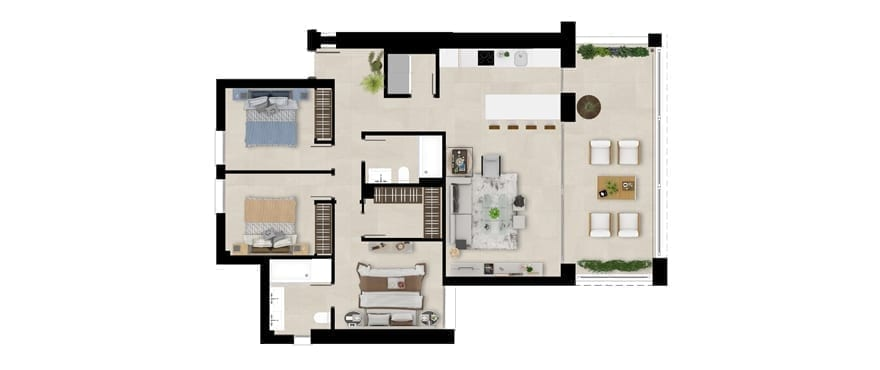 Plan first floor home, 3 bedrooms, Emerald Greens