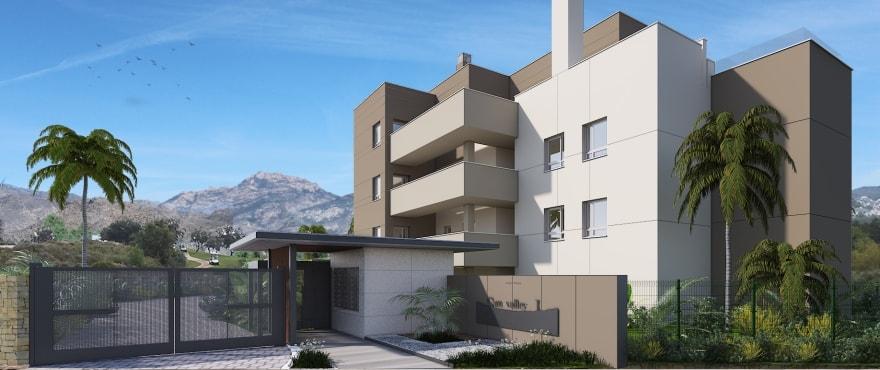 Appartements avec parking extérieur et grande terrasse offrant vue panoramique