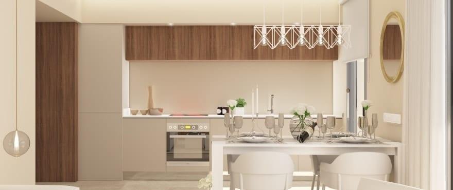 Moderne kjøkken i de nye leilighetene til salgs, Sun Valley, La Cala Resort