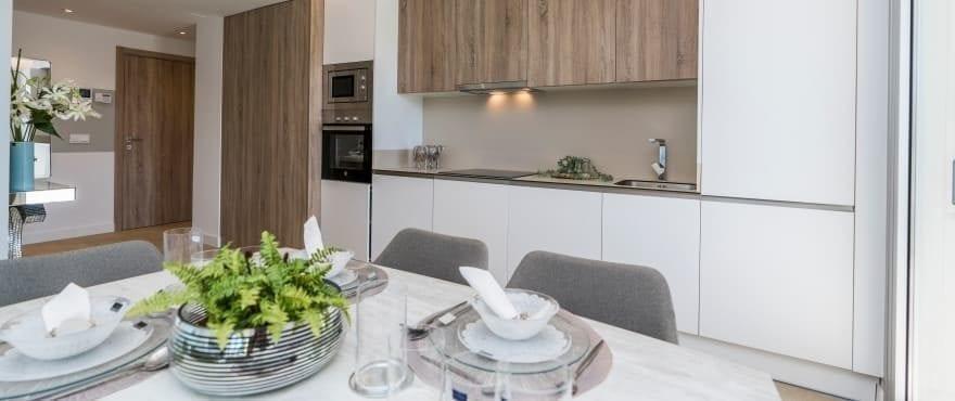 Cocina moderna en los nuevos apartamentos en venta, Sun Valley, La Cala Resort
