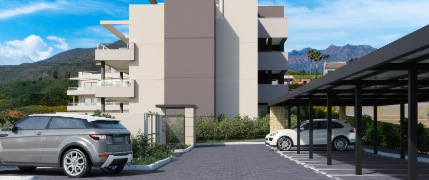 Apartments with outdoor parking and large terraces with panoramic views