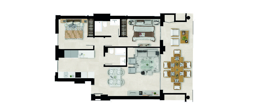 Sun Valley, plan 2 chambres