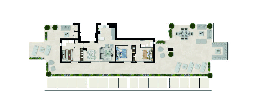 Sun Valley, plan 3 bedrooms, penthouse
