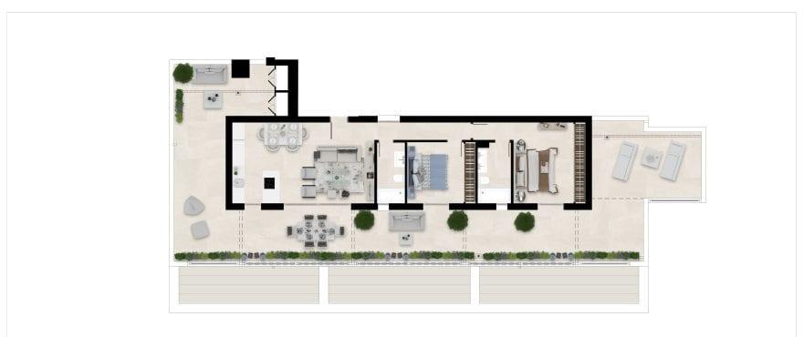 Sun Valley, plan 2 bedrooms, penthouse