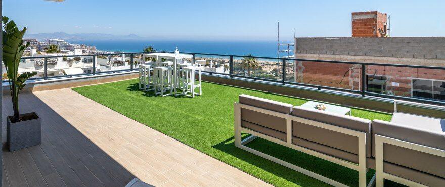 Apartamentos con amplias terrazas con vistas al mar, y parking subterráneo y trastero