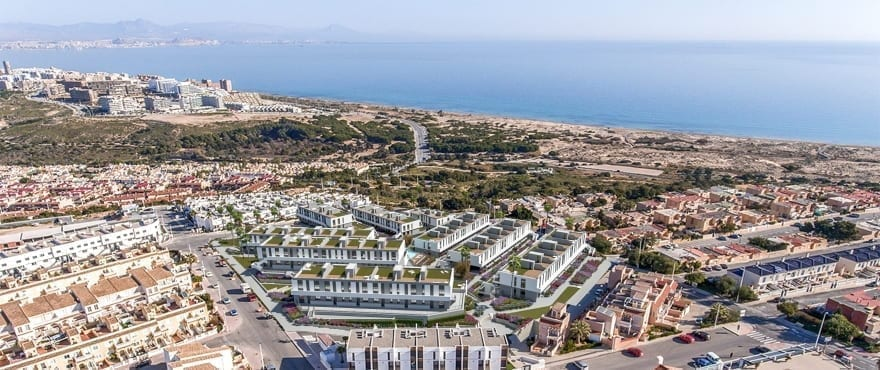 Panoramic views of the new homes Iconic, Gran Alacant, Costa Blanca