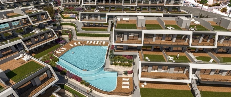 Apartments for sale with communal pool and gardens in Gran Alacant