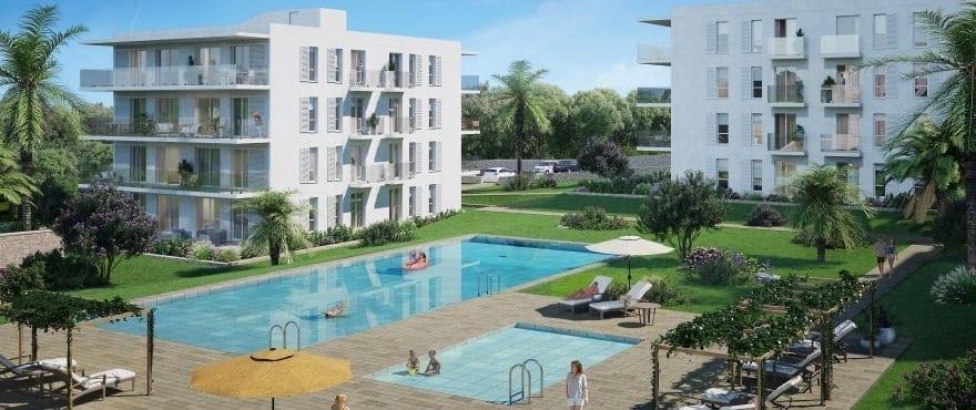 Compass, Gemeinschaftsgartenanlagen und Pools, nahe des Sporthafens in Cala d´Or