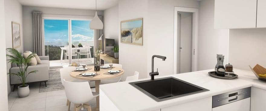Moderne Küche in einer der neuerbauten Compass Wohnungen