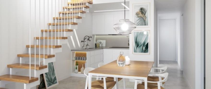 Woonkamer en keuken geïntegreerd, in de nieuwe aanbieding voor verkoop van Iconic