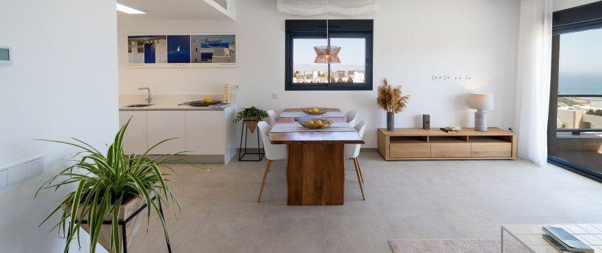 Salón y cocina integrados, en la nueva promoción en venta de Iconic