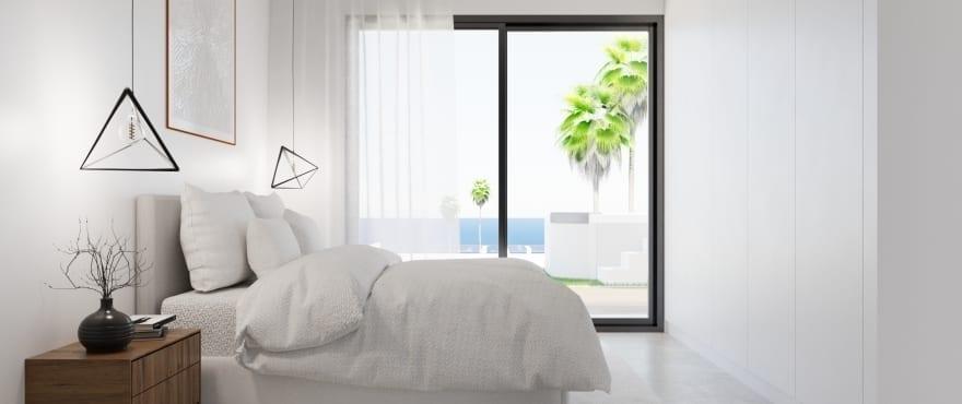 Goed licht doorlatende en ruime slaapkamer, Gran Alacant