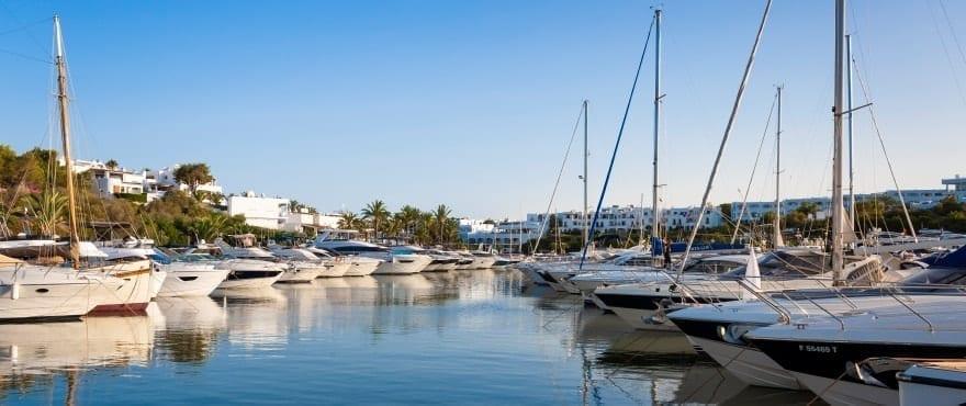 Jachthafen in Cala d'Or, Santanyi, Mallorca