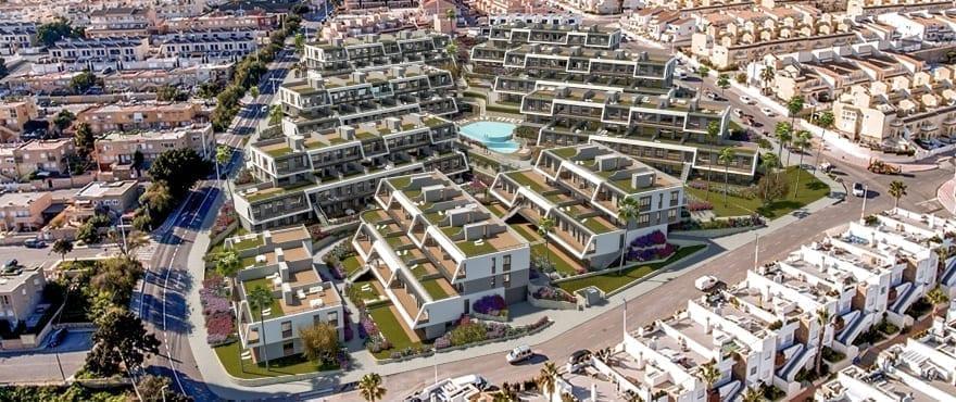 Iconic, Gran Alacant, panoramique de la résidence avec vue sur mer